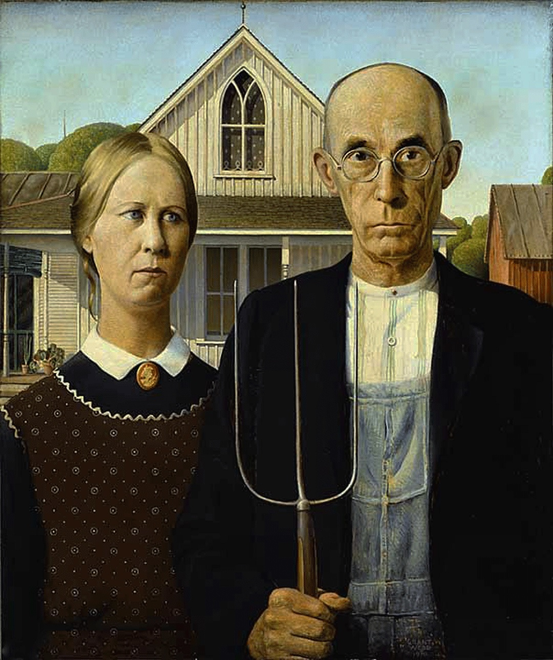 American Gothic grant wood painting