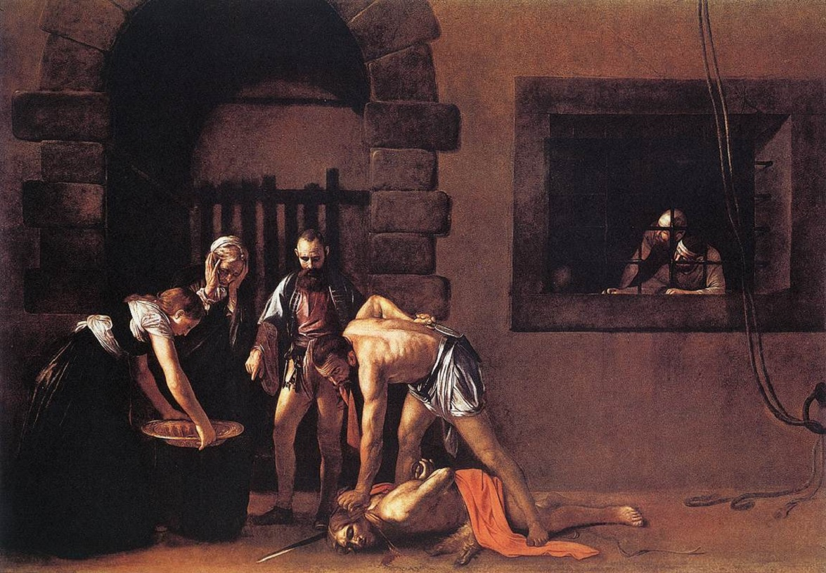 Beheading of Saint John the Baptist caravaggio