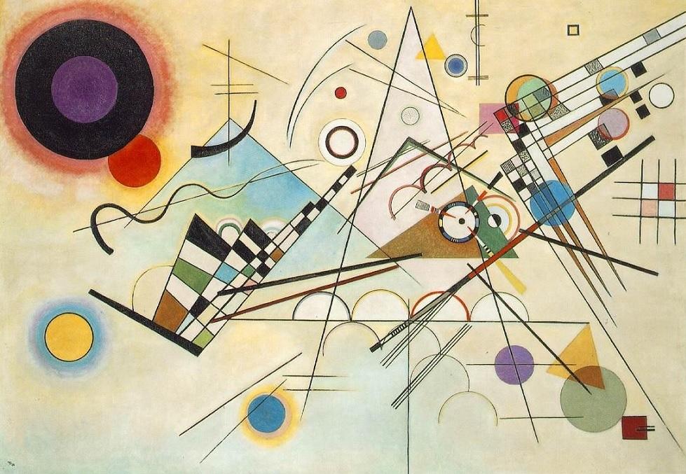 Composition 8 kandinsky painting