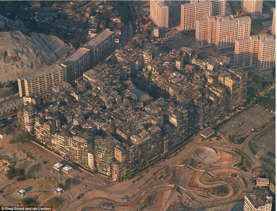 Kowloon Walled City areal view
