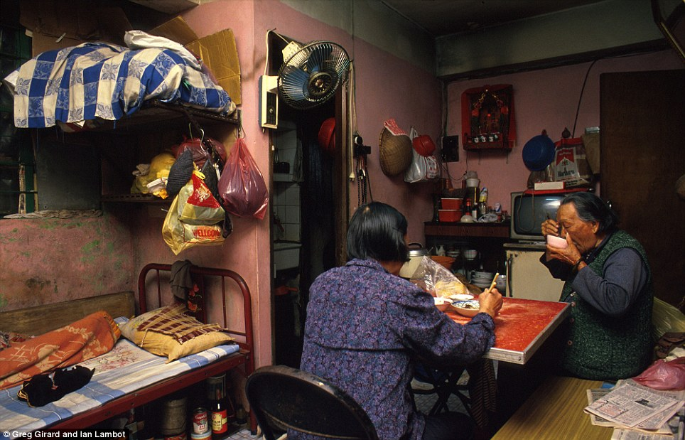 Kowloon Walled City life inside a home