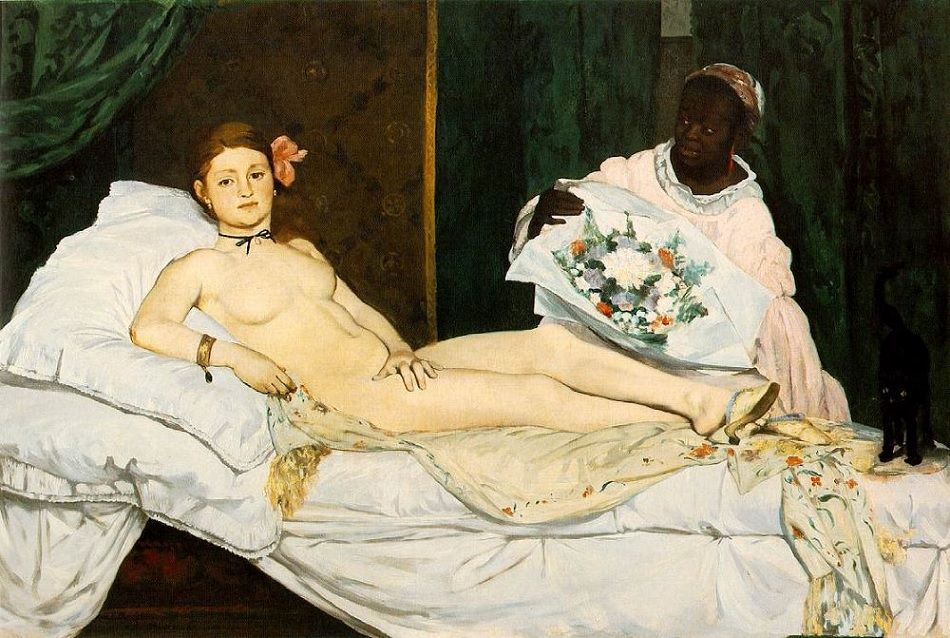 Olmpia by Edouard Manet painting