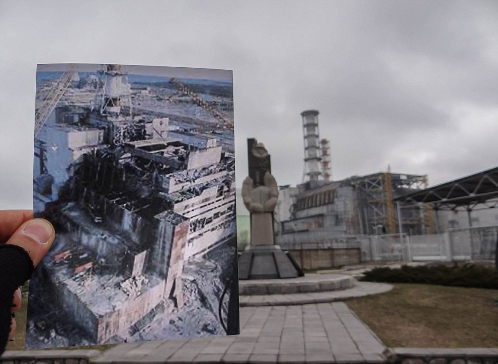 Pripyat Ukraine before after pictures by Roland Verant