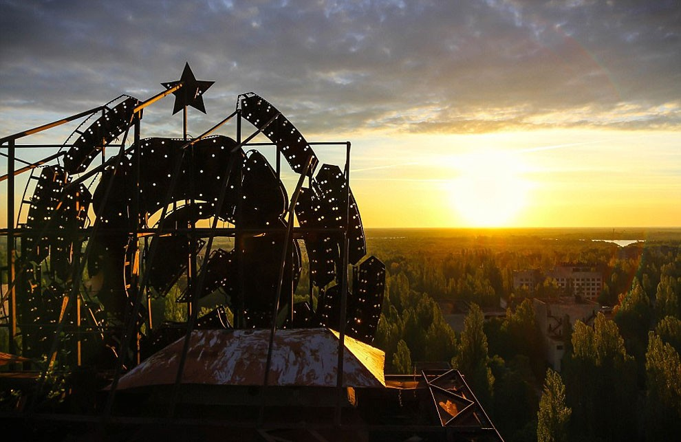 Pripyat Ukraine sunset