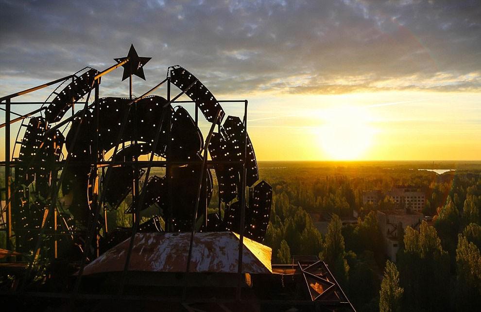 Pripyat Ukraine sunset