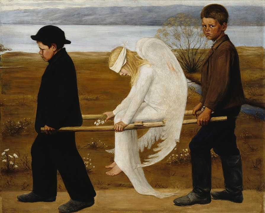 The_Wounded_Angel by Hugo_Simberg