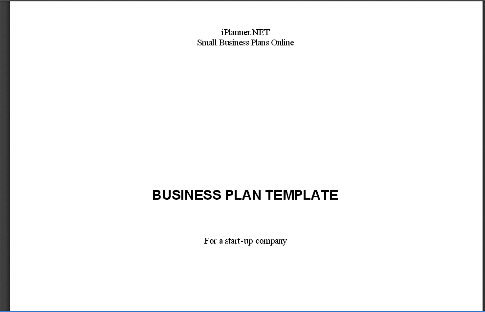 Free Business Plan Templates For Startups WiseToast - Small business plans template