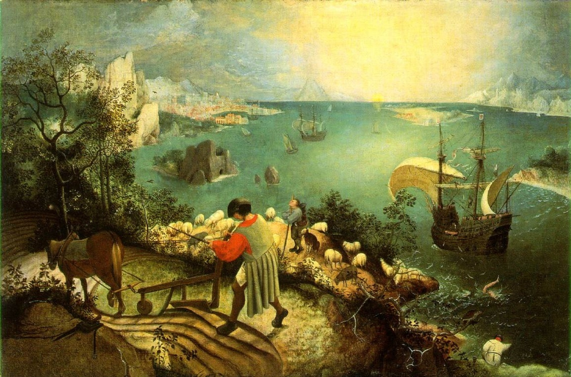 landscape with the fall of icarus pieter bruegel