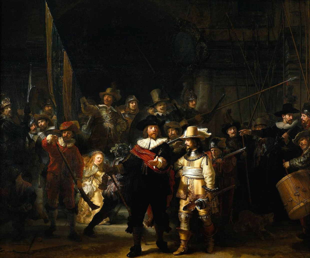 night watch rembrandt wallpaper