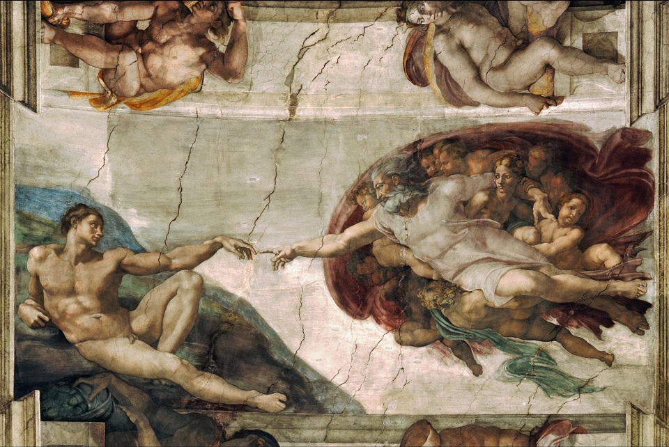 the creation of adam michelangelo wallpaper
