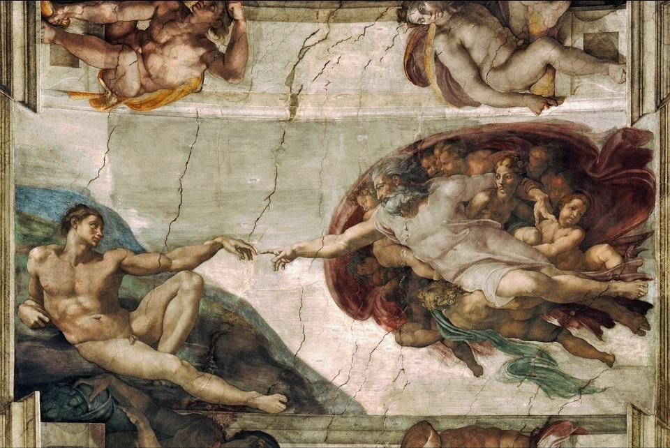 the creation of adam michelangelo wallpaper