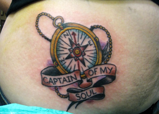 Compass Tattoo With a Strong Religious Message