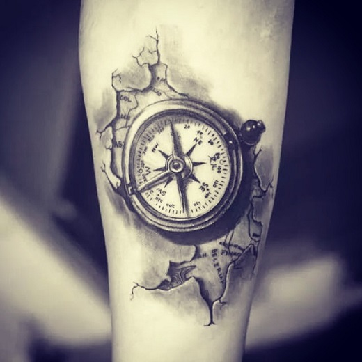 50 beautiful compass tattoo designs and meanings. Black Bedroom Furniture Sets. Home Design Ideas
