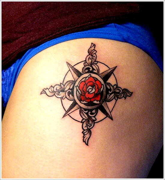 Compass Tattoo As a Beacon of Life.