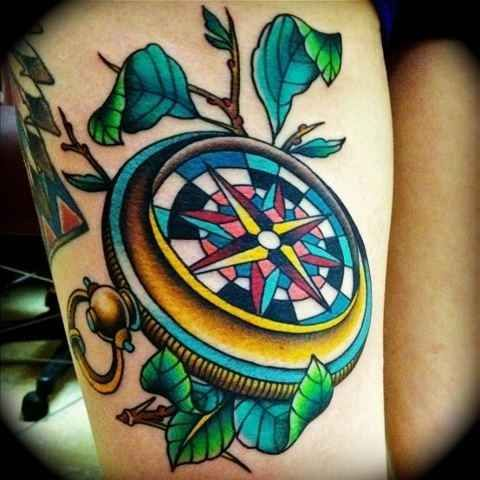 Just a Beautiful compass tattoo
