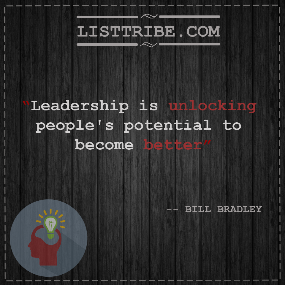 BILL BRADLY'squote regarding the Leadership.