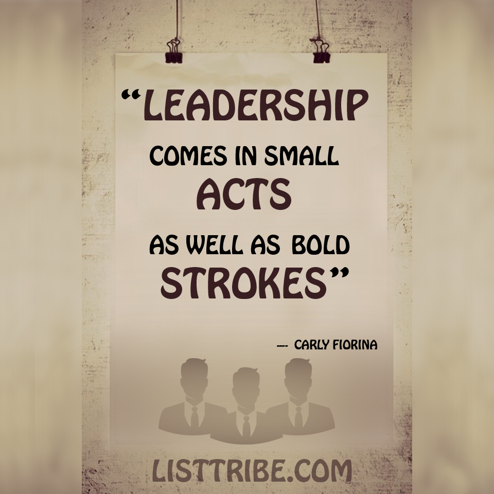 Carl Florina's quote regarding the Leadership.