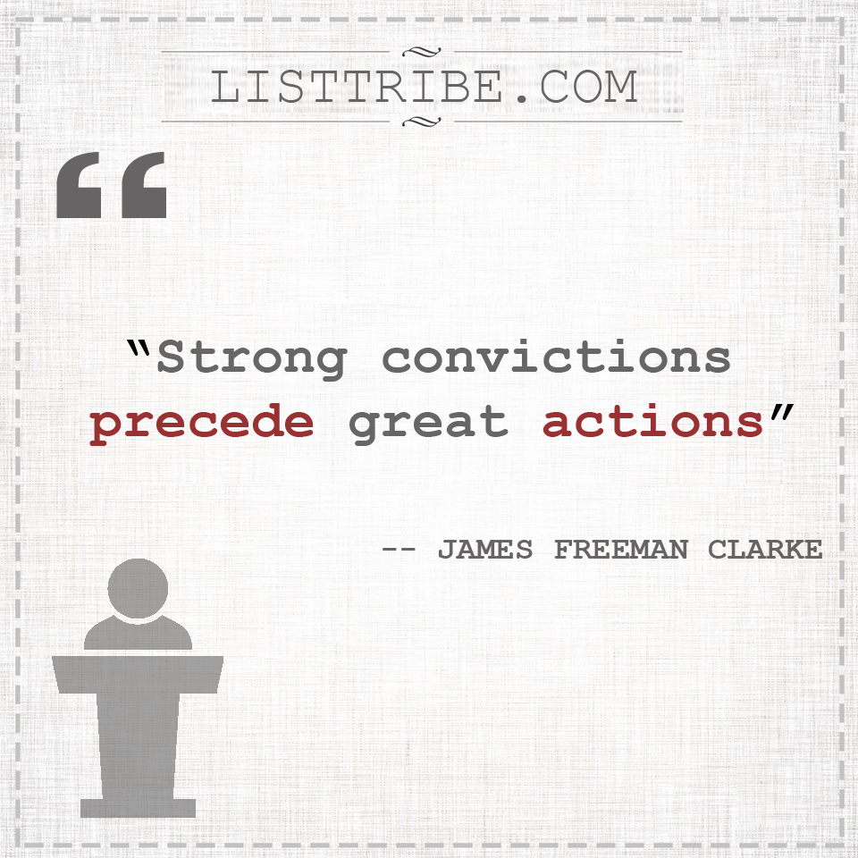 james freeman clarke's quote regarding the Leadership.