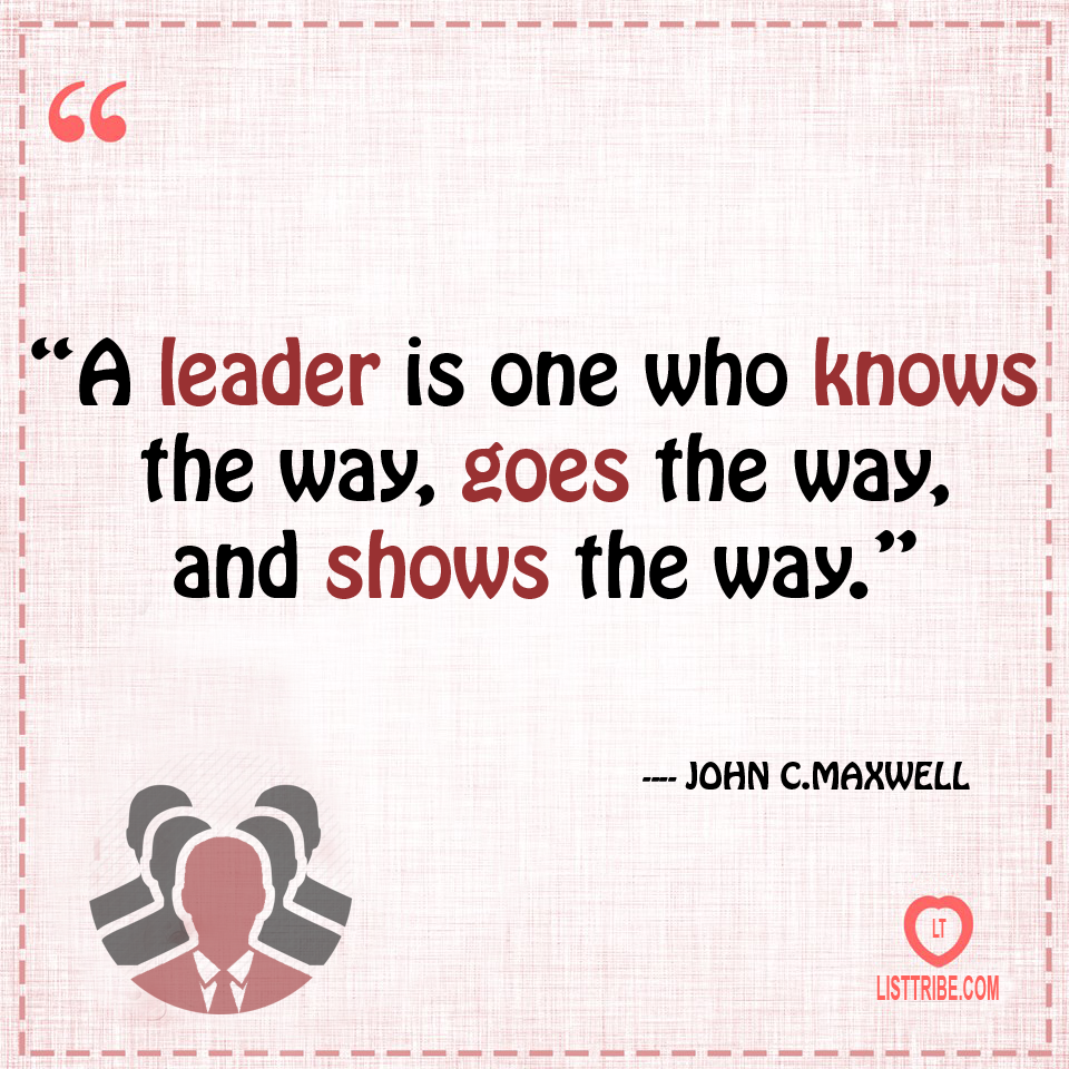 JOHN MAXWELL's quote regarding the Leadership.