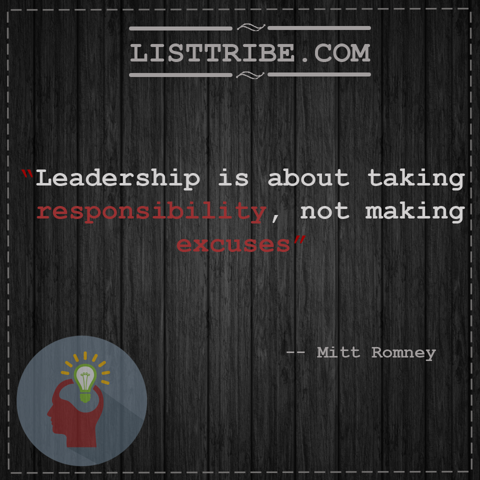 mitt romney'squote regarding the Leadership.