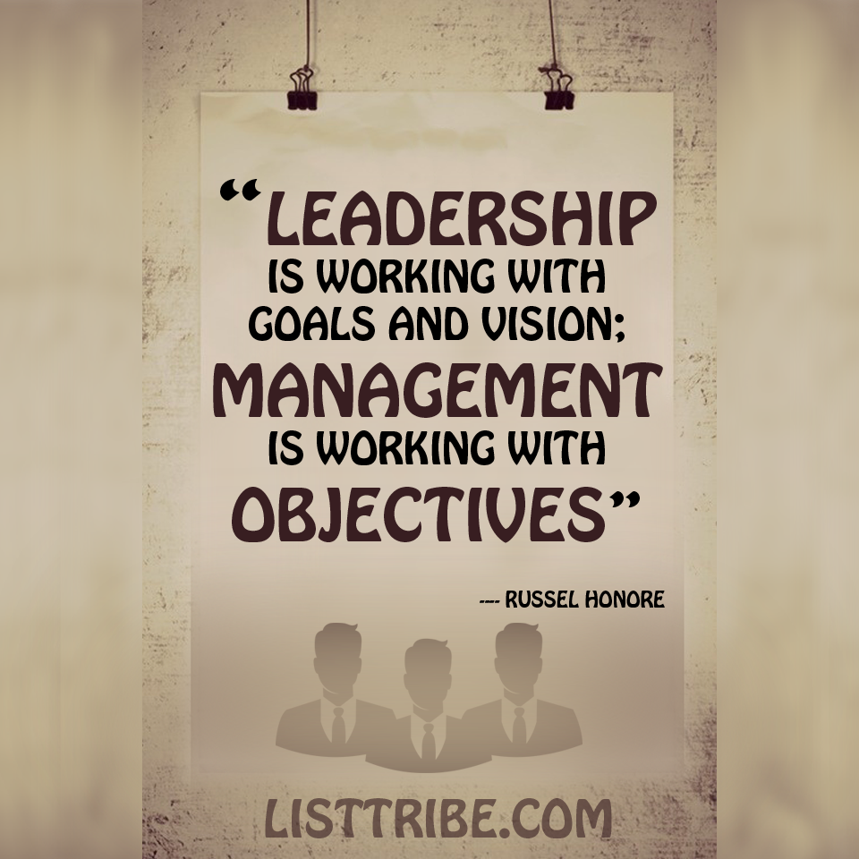 RUSSEL HONORE's quote regarding the Leadership.