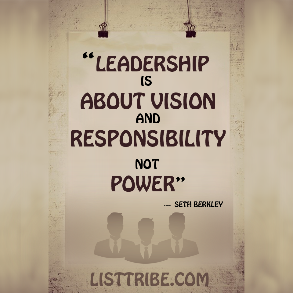SETH BERKLY's quote regarding the Leadership.