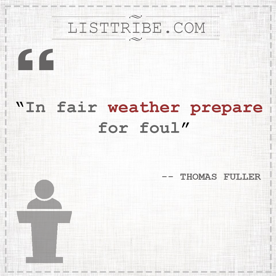 THOMAS FULLER's quote regarding the Leadership.