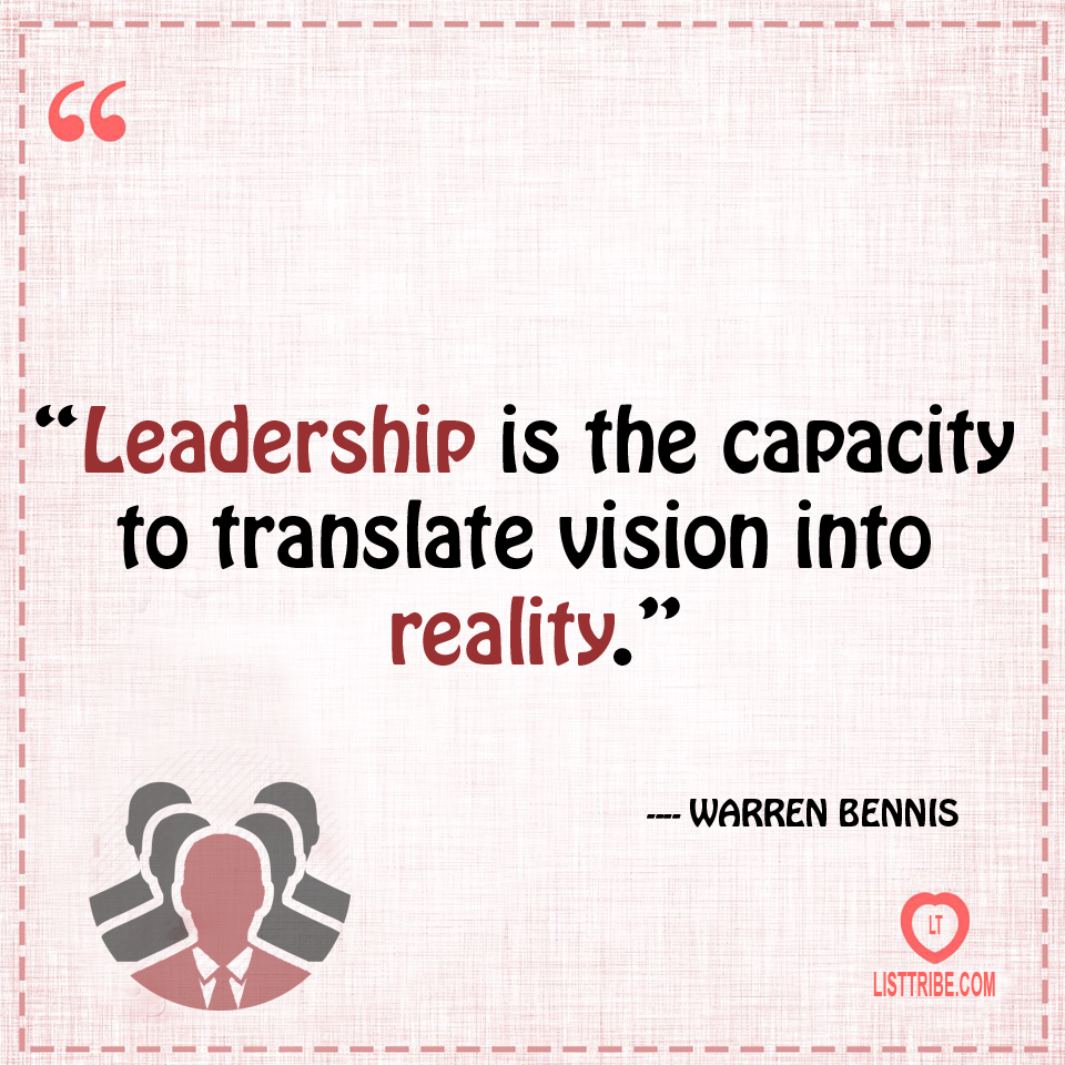 warren bennis's quote regarding the Leadership.